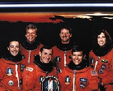 Ochoa with the crew of space 