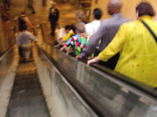 photo of WTC escalator