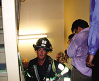 photo of WTC stairwell