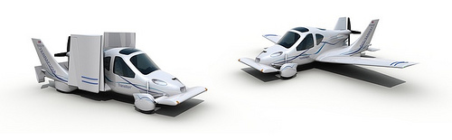 Photograph of the Transition Flying Car by opponent