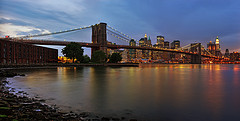 Brooklyn Bridge Panorama by Philipp Klinger